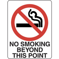 410MP -- 300x225mm - Poly - No Smoking Beyond This Point