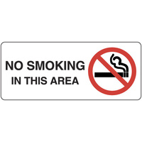 415OLP -- 450x200mm - Poly - No Smoking In This Area