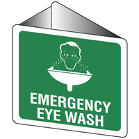 506OWP -- 225x225mm - Poly - Off Wall - Emergency Eye Wash