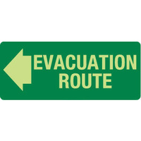 Evacuation Route (Left Arrow)