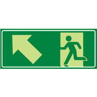 Running Man with Arrow Up/Left