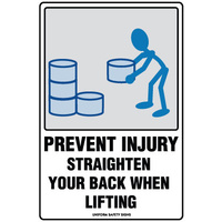 Prevent Injury Straighten your Back when Lifting