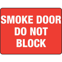 Smoke Door Do Not Block