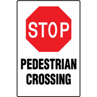 Stop Pedestrian Crossing