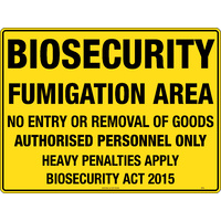 Biosecurity Fumigation Area