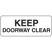 Keep Doorway Clear