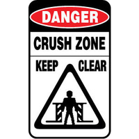 Danger Crush Zone Keep Clear