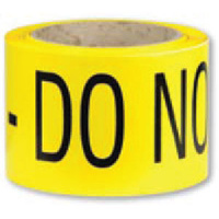 Barrier Tape - Black and Yellow - Caution Do Not Enter