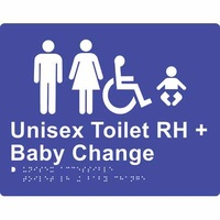 Unisex Accessible Toilet & Baby Change (Right Hand)