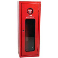 Galvanised Metal Extinguisher Cabinet - Suits 4.5kg Extinguisher - 590 x 280 x 210mm
