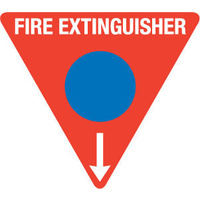 FRL02TRP -- 350mm Poly Triangle - Fire Extinguisher Marker - Foam (Blue)