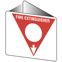 Off Wall - Fire Extinguisher Marker - Powder AB(E) (White)