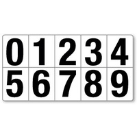 50mm Magnetic Numbers Set of 0 - 9