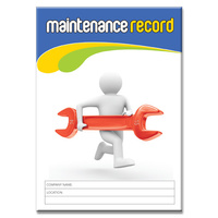 Maintenance Record log book A5