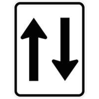 Two Way Traffic (Symbolised with arrows)