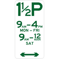 1 1/2 Hour Parking (Double Arrow)