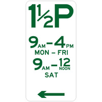 1 1/2 Hour Parking (Left Arrow)
