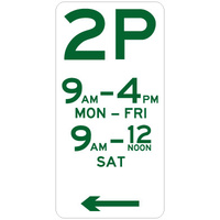 2 Hour Parking (Left Arrow)