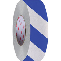 50mm x 45.7mtr - Class 2 Reflective Tape - Blue and White
