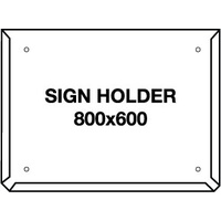 Hazchem Sign Placard Holder 800x600mm