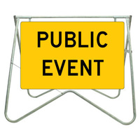 900x600mm - Swing Stand and Sign - Public Event