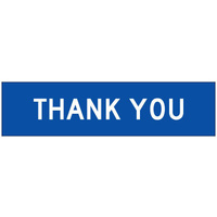 1200x300mm - CL1W Fluted Board -(White/Blue)  Thank You