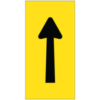 600x300mm - CL1W Fluted Board - Lane Status Open (Arrow Up)