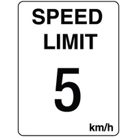 300x225mm - Poly - Speed Limit 5