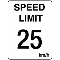 300x225mm - Poly - Speed Limit 25