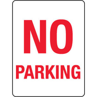 450x300mm - Poly - No Parking