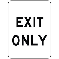 600x450mm - Corflute - Exit Only
