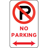 No Parking (With Double Arrow And Symbol)