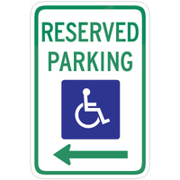 Reserved Parking (Disabled Picto and Left Arrow)