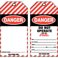 Pkt of 25 Tear Proof - Danger blank