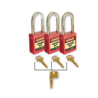 42mm Premium Safety Padlocks - Set of 3 With Master Key