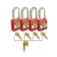 42mm Premium Safety Padlocks - Set of 4 With Master Key