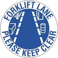 400mm - Self Adhesive, Anti-slip, Floor Graphics - Forklift Lane Please Keep Clear