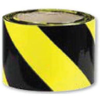 Barrier Tape - Black and Yellow (50m)