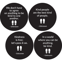 4pk Kindness Floor Decals