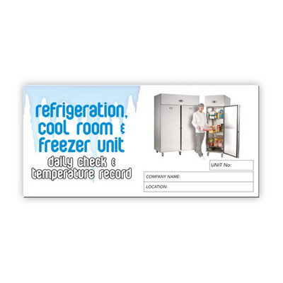 Refrigeration log book DL