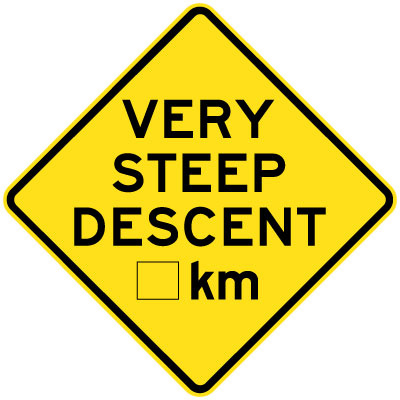 Very Steep Descent __km